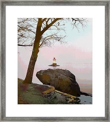 Kingsland Point Park Lighthouse Framed Print by Charles Shoup