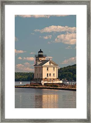 Framed Print featuring the photograph Kingston Rondout Lighthouse by Nancy De Flon