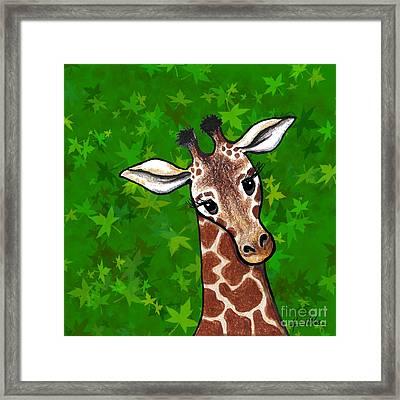 Kiniart Giraffe Framed Print