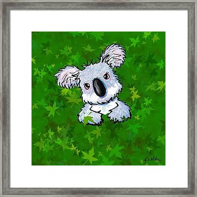 Kiniart Koala Framed Print by Kim Niles