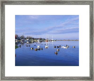 Kinnego Marina, Lough Neagh, Co Antrim Framed Print by The Irish Image Collection