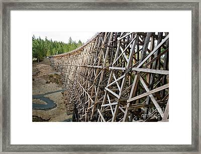 Kinsol Trestle L Railroad Bridge Framework Spanning Valley Framed Print