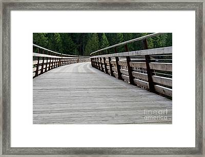 Kinsol Walkway Kinsol Trestle Pathway Across The Railroad Bridge Restored Framed Print by Andy Smy
