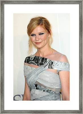 Kirsten Dunst At Arrivals For The 2009 Framed Print