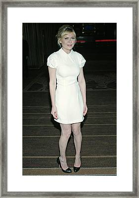 Kirsten Dunst Wearing A Miu Miu Dress Framed Print by Everett
