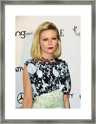 Kirsten Dunst Wearing A Rodarte Dress Framed Print by Everett