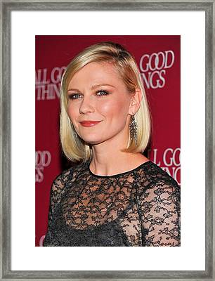 Kirsten Dunst  Wearing Fred Leighton Framed Print