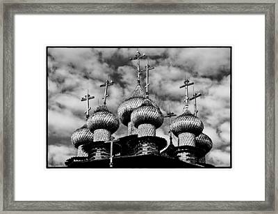 Framed Print featuring the photograph Kishi Domes Black And White by Rick Bragan