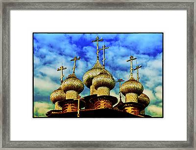 Framed Print featuring the photograph Kishi Domes Sunset by Rick Bragan