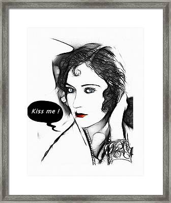 Kiss Me 2 Framed Print