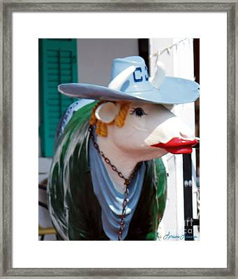 Kiss Me Big Boy Framed Print by Lorraine Louwerse