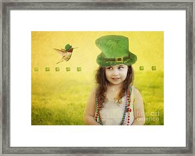 Kiss Me I Am Not Irish Framed Print