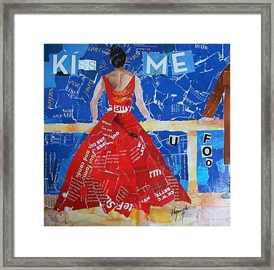 Kiss Me Framed Print by Lynn Chatman