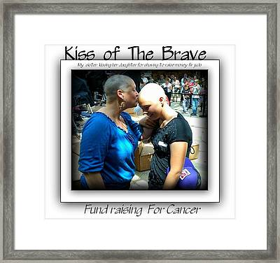 Kiss Of The Brave Framed Print by Danielle  Parent