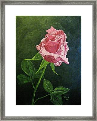 Framed Print featuring the painting Kiss Of The Morning Sun 2 by Wendy Shoults