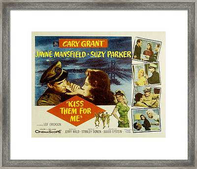 Kiss Them For Me, Cary Grant, Suzy Framed Print by Everett