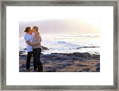 Kissed By The Ocean Framed Print