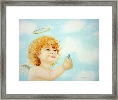 Kisses For You Framed Print by Gizelle Perez