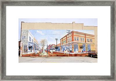 Kissimmee Street Mural Framed Print