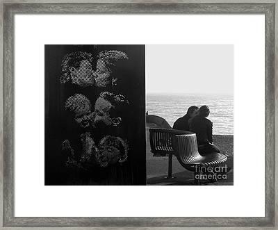 Kissing Couples Framed Print by Karin Ubeleis-Jones
