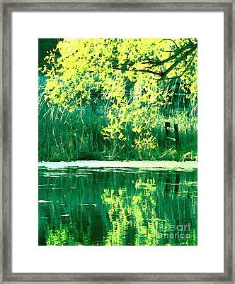 Kissing Yesterday Goodbye Framed Print
