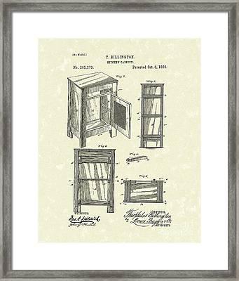 Kitchen Cabinet 1882 Patent Art Framed Print