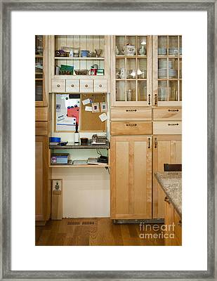 Kitchen Cabinets Framed Print by Andersen Ross