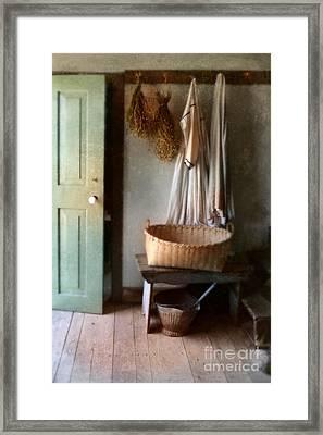 Kitchen Door In Old House Framed Print by Jill Battaglia