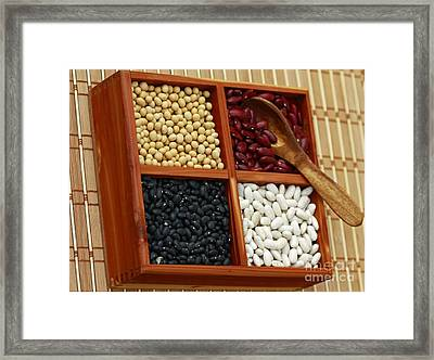 Kitchen Etiquette Mixed Beans Framed Print by Inspired Nature Photography Fine Art Photography