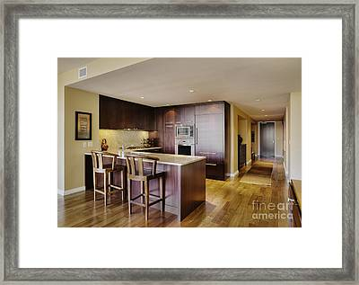 Kitchen In Luxury Condo Framed Print