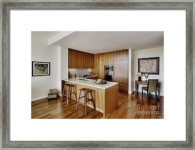 Kitchen In Upscale Condo Framed Print