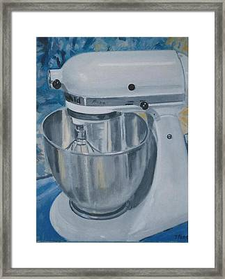 Kitchen Mixer Framed Print by Terry Forrest