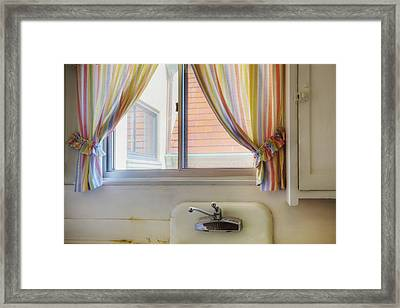 Kitchen Window Of Former Residential Framed Print by Douglas Orton