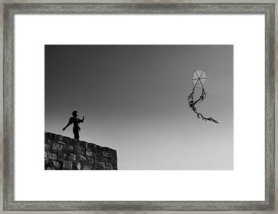 Framed Print featuring the photograph Kite-2 by Okan YILMAZ