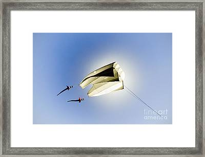 Kite And The Sun Framed Print by David Lade