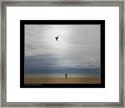 Framed Print featuring the photograph Kite In The Sky by Pedro L Gili