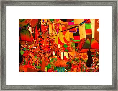Kite Kafe Framed Print by Julie Lueders