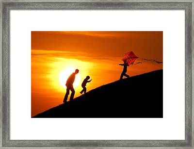 Kite Framed Print by Okan YILMAZ