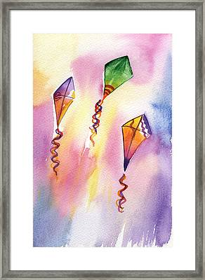 Kite Rockets Framed Print by Lydia Irving