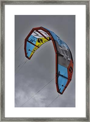 Kite Surfing Framed Print by Douglas Barnard