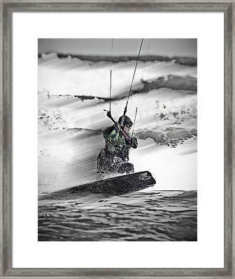 Kite Surfs Up Framed Print