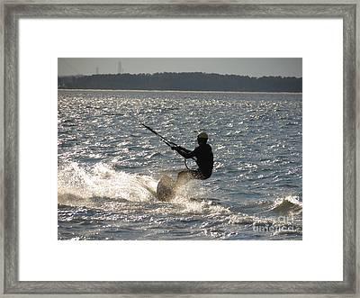Kiteboarder Framed Print by Rrrose Pix