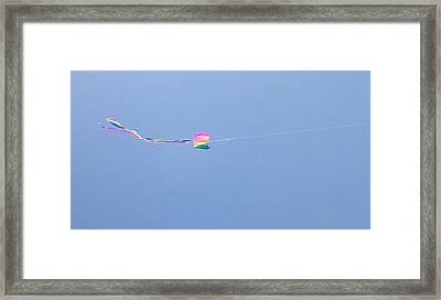Framed Print featuring the photograph Kites 8 by Elizabeth  Sullivan