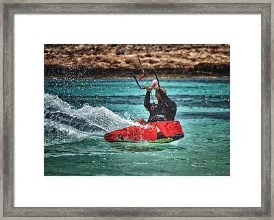 Kitesurfer Framed Print