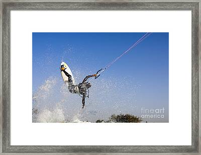 Kitesurfing Framed Print by Hagai Nativ