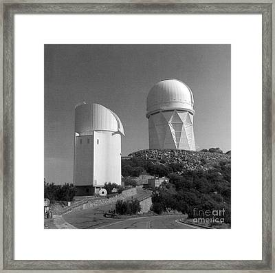 Kitt Peak National Observatory Kpno Framed Print by Science Source