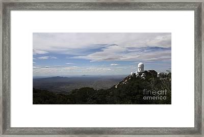Kitt Peak Observatory Domes Framed Print by Phillip Jones