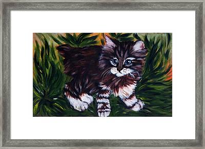 Kitty Framed Print by Elena Melnikova