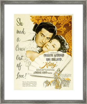 Kitty, Ray Milland, Paulette Goddard Framed Print by Everett