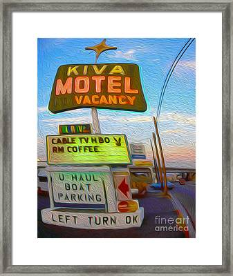 Kiva Motel - Needles Ca Framed Print by Gregory Dyer